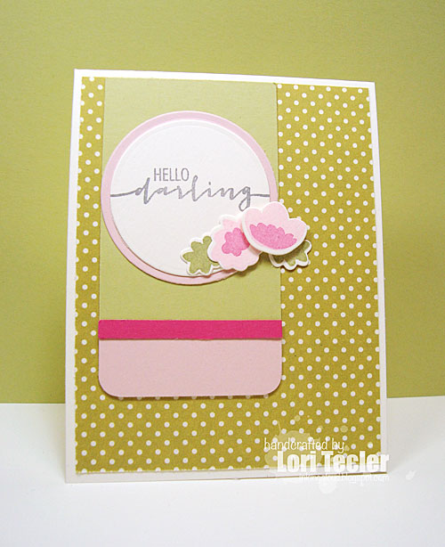 Hello Darling card-designed by Lori Tecler/Inking Aloud-stamps from Avery Elle
