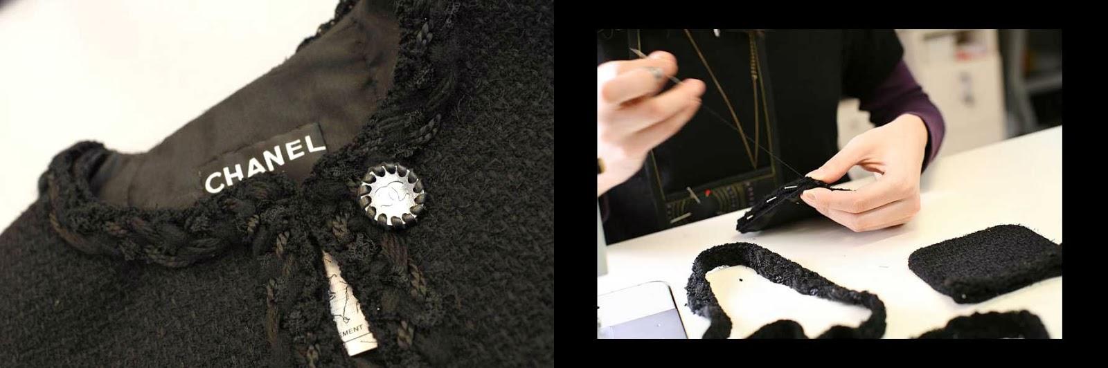 The Little Black Jacket braided trim close up
