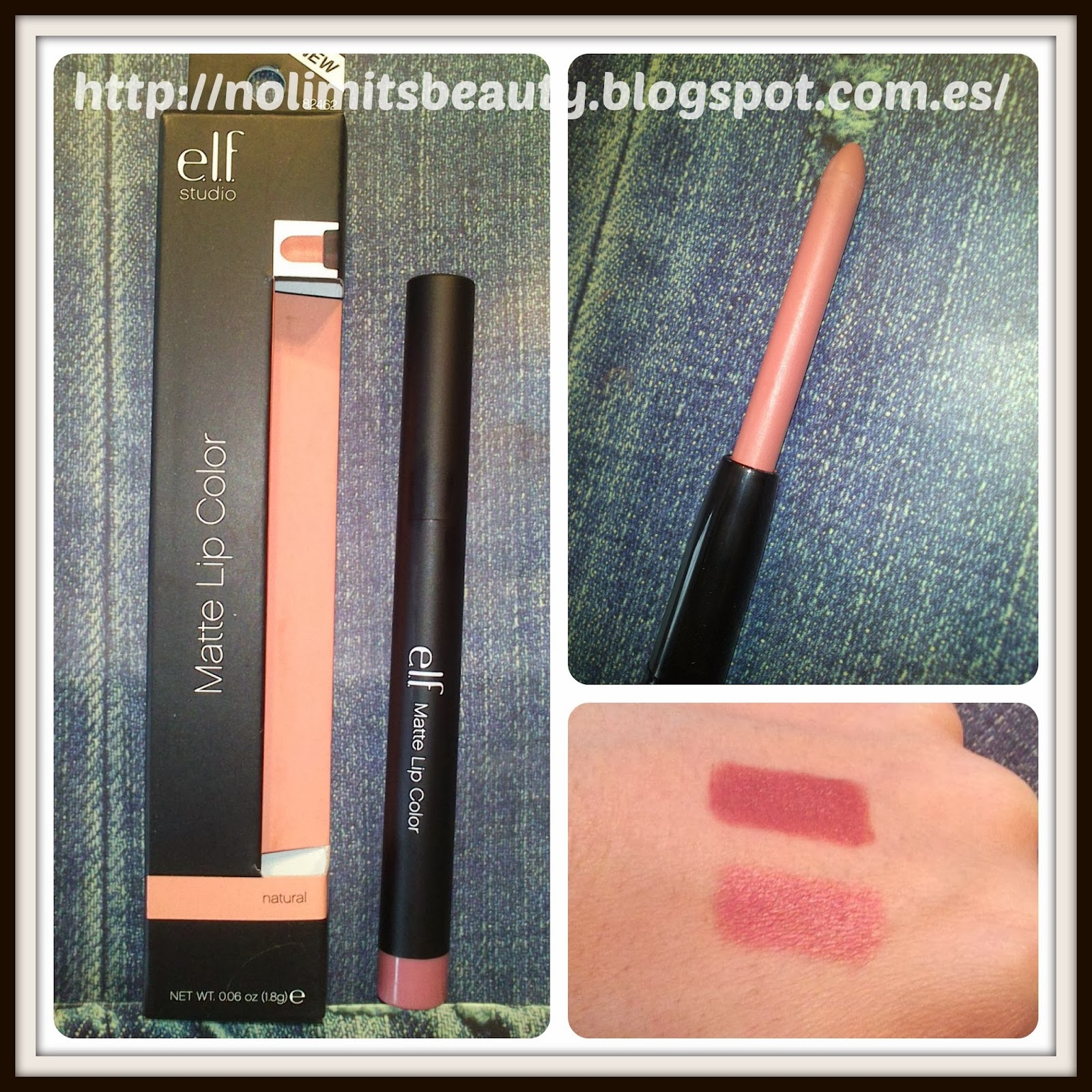 iHerb - ELF Matte Lip Color - tono Natural