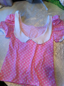 vintage top dottie pink
