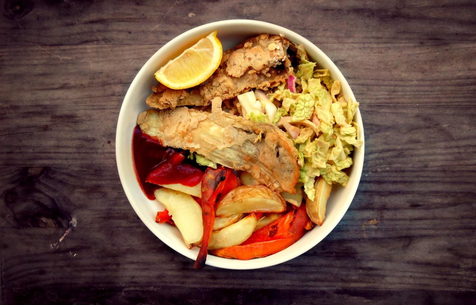 Baked fish n chips vegan gf soy free baking backwards for Vegan fish sauce substitute