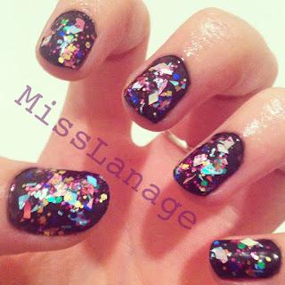 mirrorball nail art
