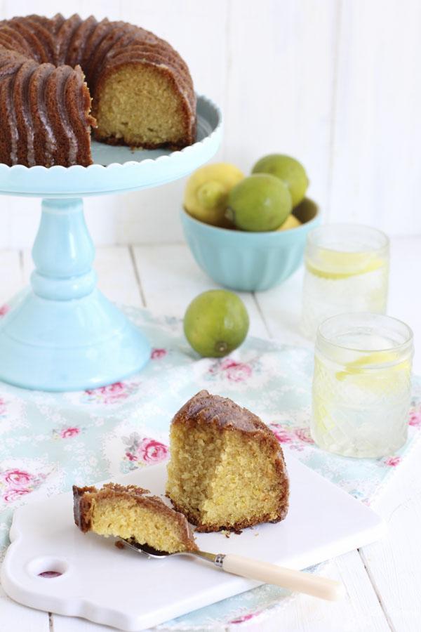 Receta bundt cake de lima limón
