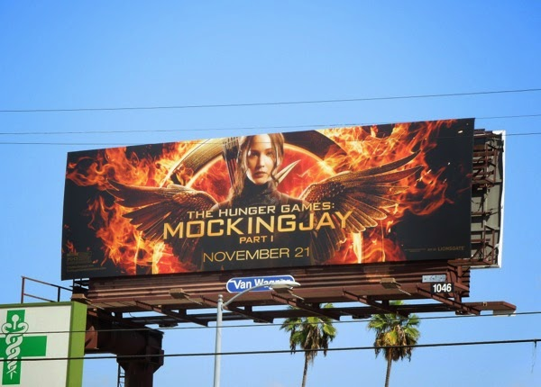 Hunger Games Mockingjay I billboard