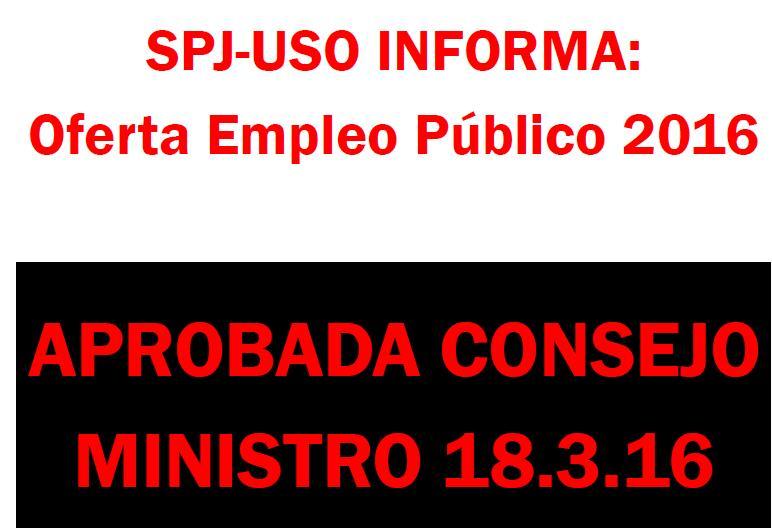OFERTA EMPLEO PUBLICO 2016