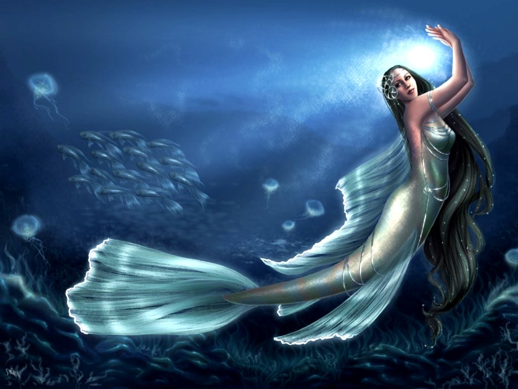 wallpaper beautiful mermaid pictures-#2