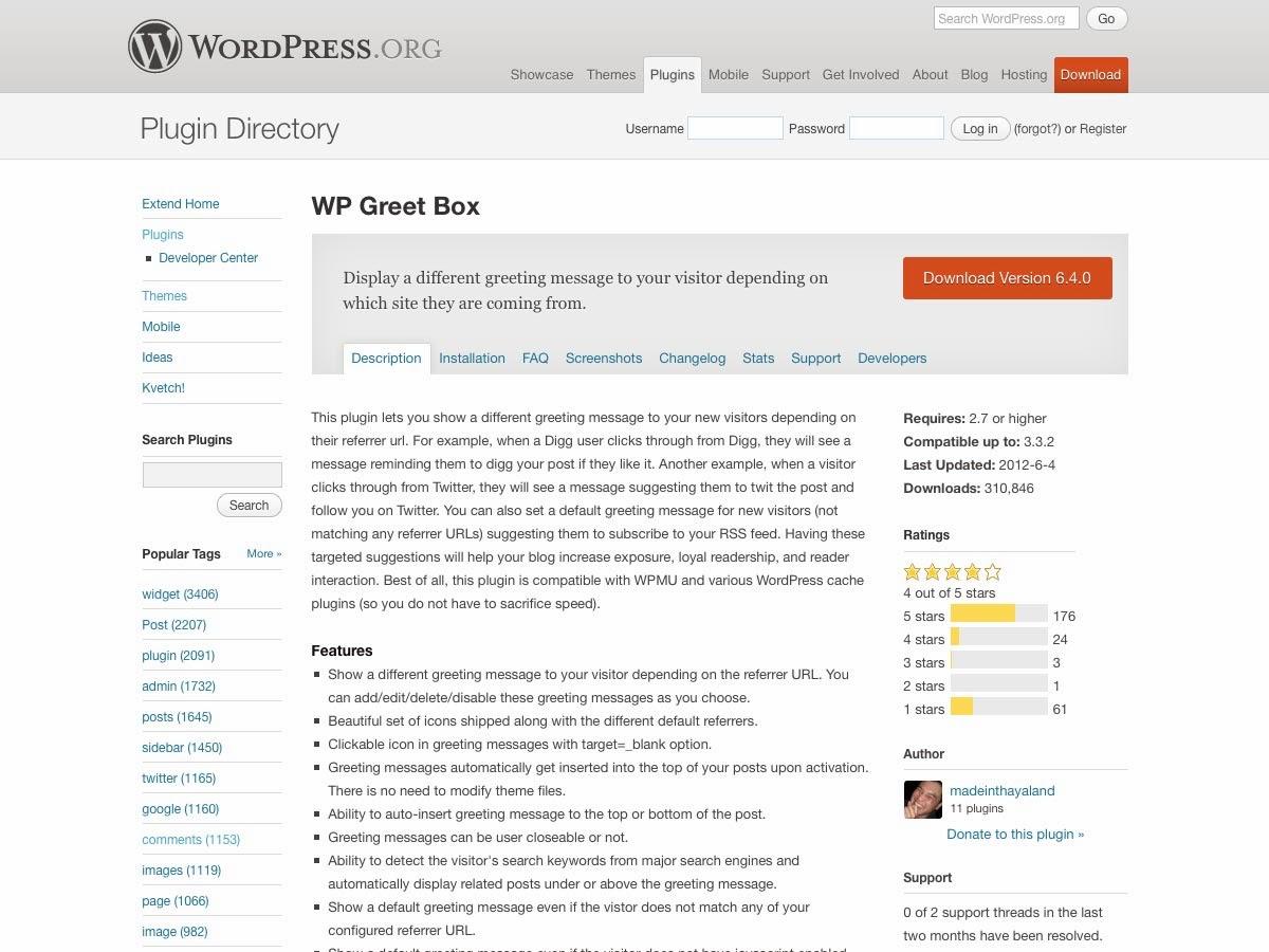 WP Greet Box