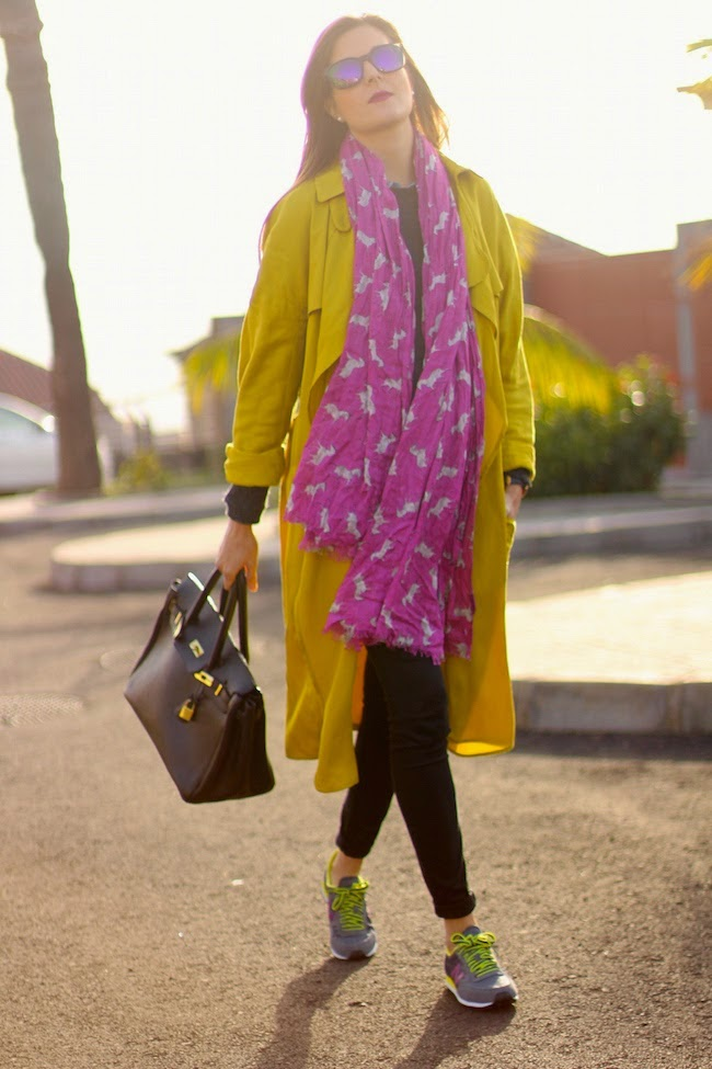 MUSTARD TRENCH street style
