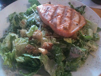 Outer Banks Brewing Station dish: Caesar Salad with Grilled Salmon