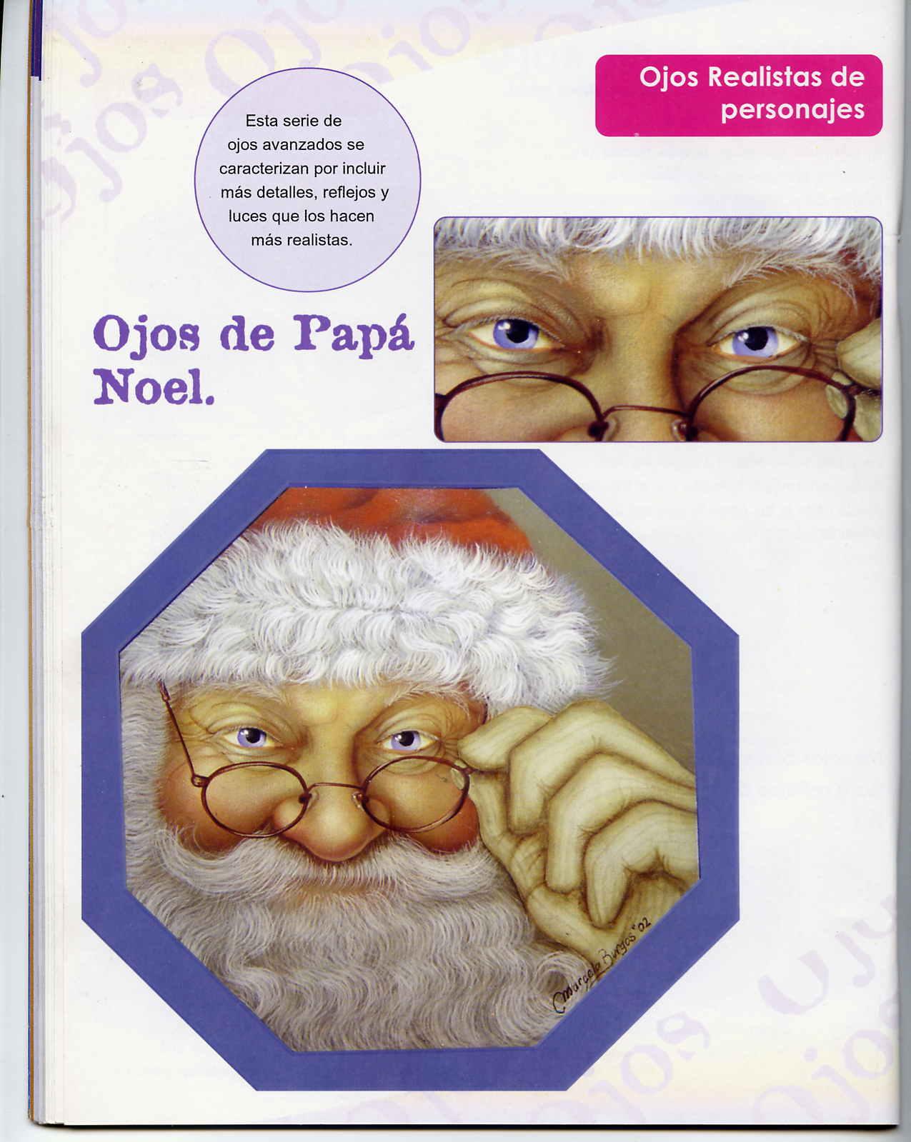 Dibujos y Plantillas para imprimir: Como pintar ojos Papa Noel