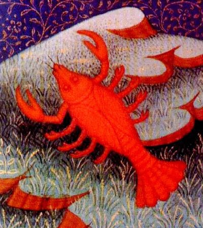 funky red crab from medieval text