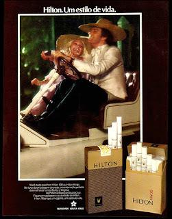 propaganda cigarros Hilton - 1976, reclame de cigarros 1976. propaganda anos 70; história decada de 70; reclame anos 70; propaganda cigarros anos 70; Brazil in the 70s; Oswaldo Hernandez;
