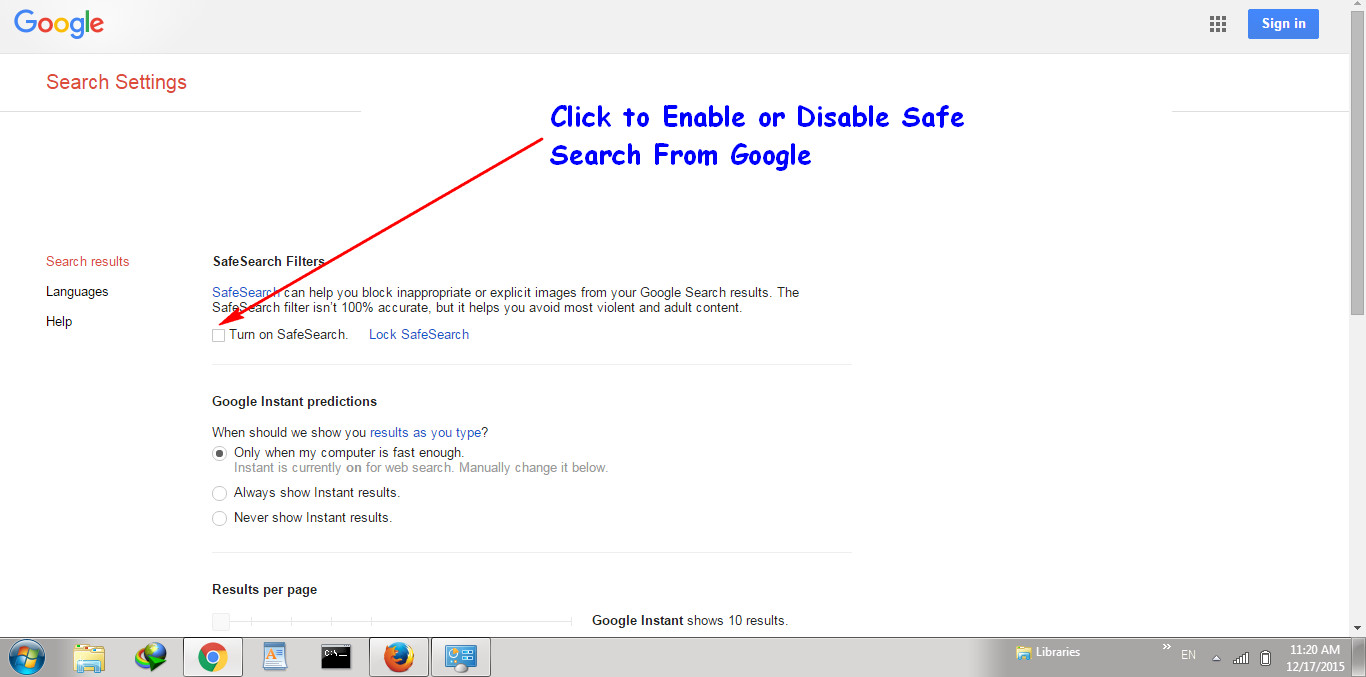 How To Turn Off Safe Search in Google Chrome \u0026 Firefox | KeepTheTech