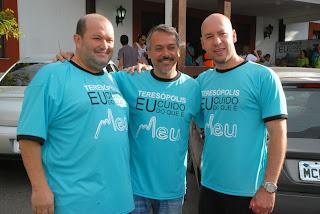 Na ordem, o vice-prefeito, Mário Catão, o secretário municipal de Turismo, Henrique Carregal, e o diretor de turismo da Aciat, Vinicius Claussen