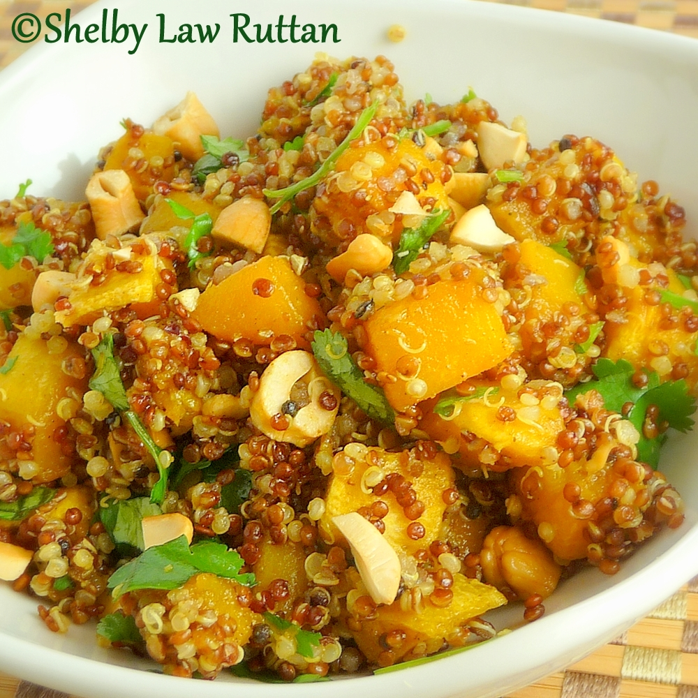 ... Honeybunch: Indian Spiced Butternut Squash Tri-Colored Quinoa Salad