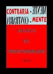 """MANIFESTO DEL """"PROGETTO CONTRARIA-MENTE"""""""