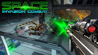 Screenshots of the Space invasion combat for Android tablet, phone.