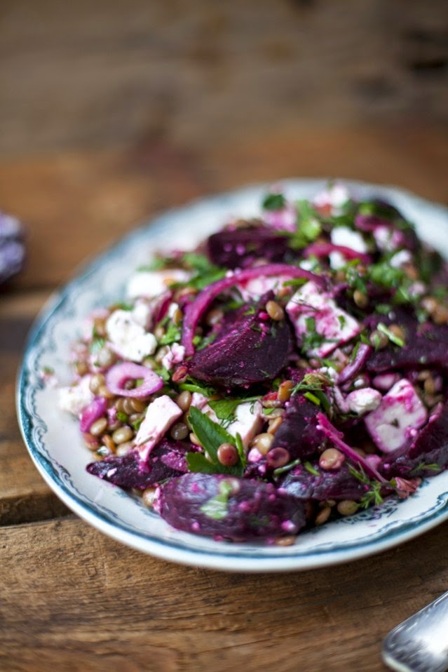 Roasted Beetroot, Feta & Lentil Salad recipe from RTE Food