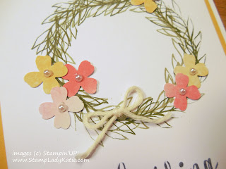 Flower Wreath made with stamps from Stampin'UP!'s Paper Pumpkin Kit: Blissful Bouquet