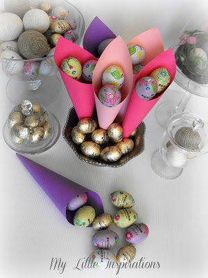 chocolate eggs cones