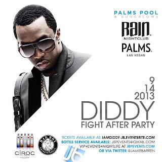 """Diddy Post-Fight Party at RAIN Nightclub Palms Vegas"""
