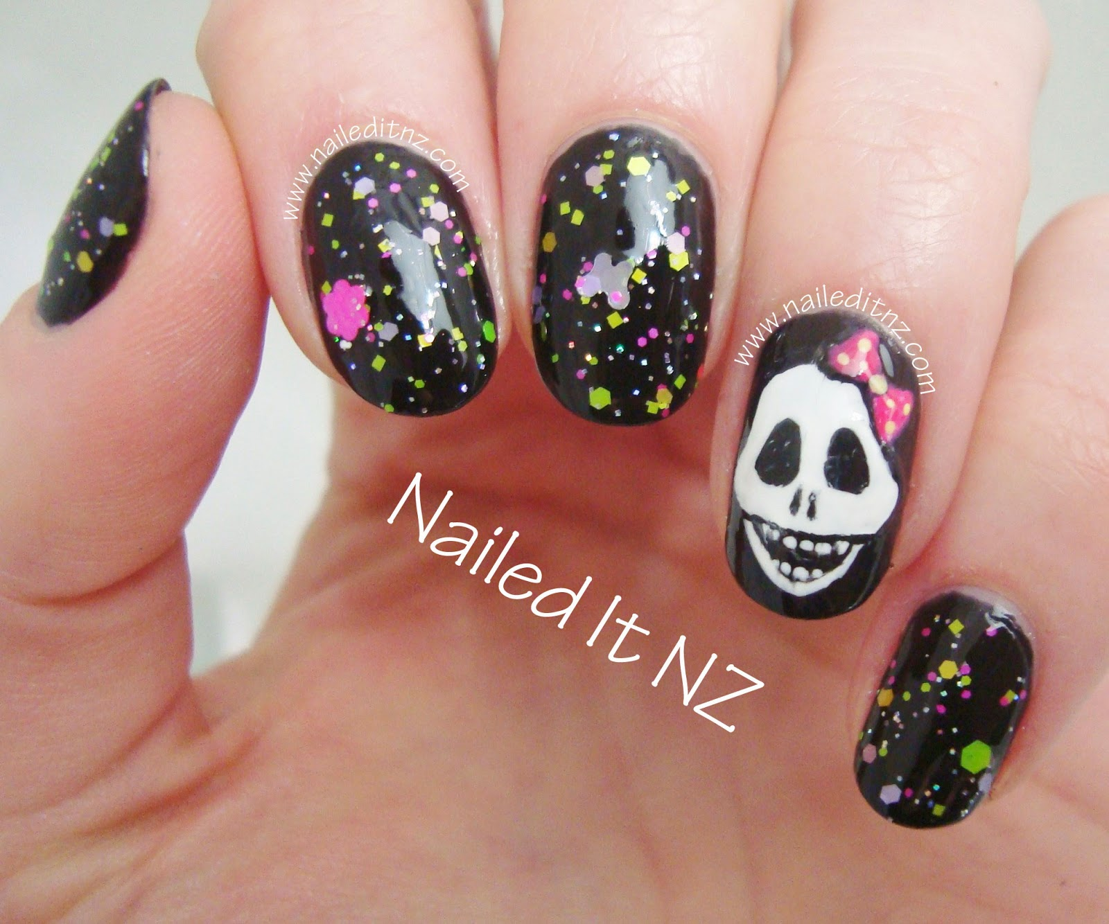 Girly Skull Nail Art Star Kin Nail Polish