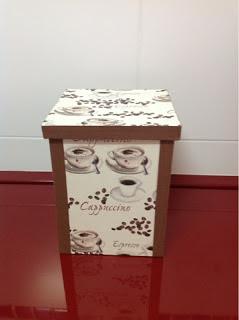 Caja de café cartonaje