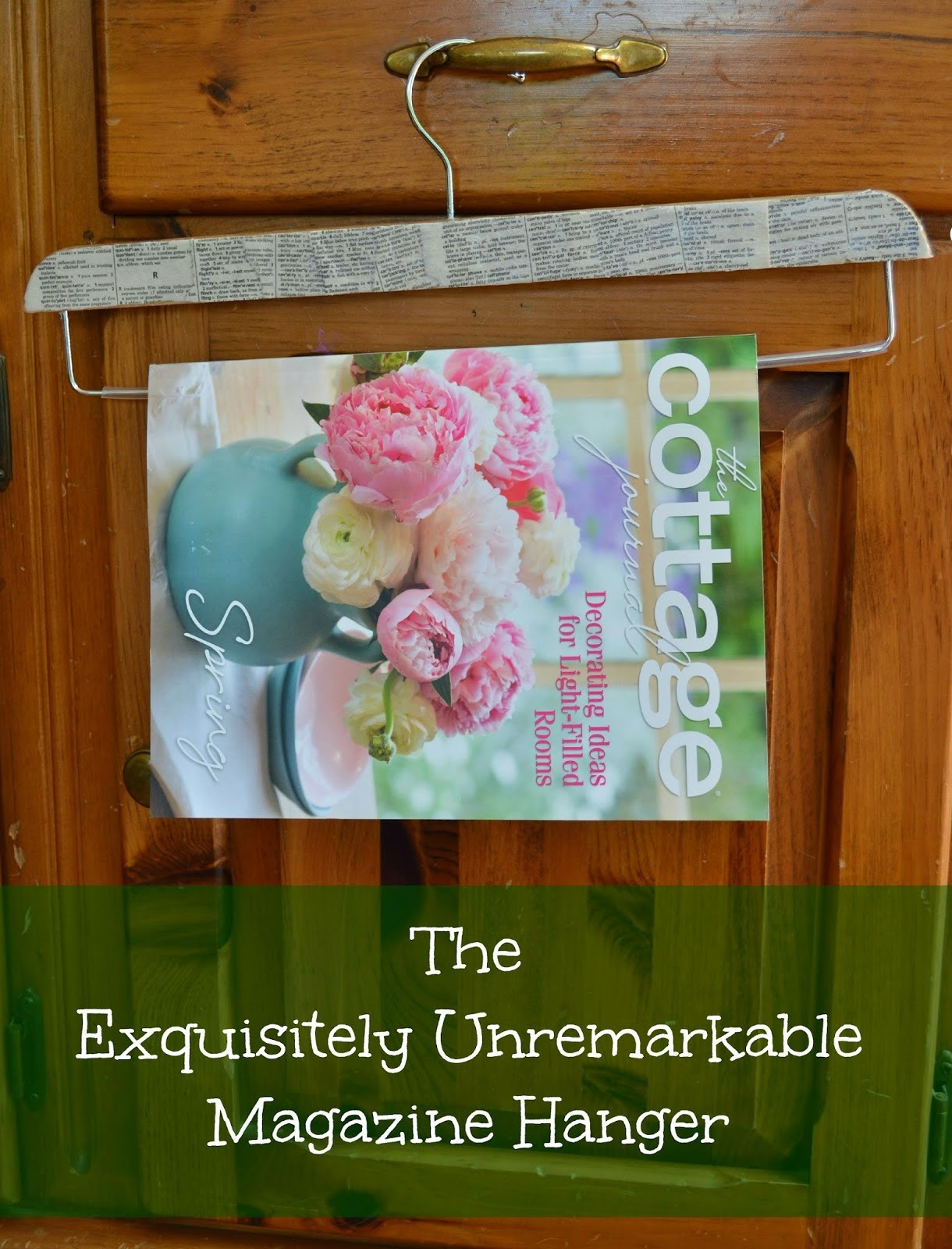 Book page magazine hanger by Exquisitely Unremarkable #organizing