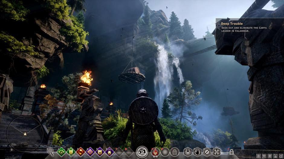 ability bar already familiar for PC players of Dragon Age: Origins