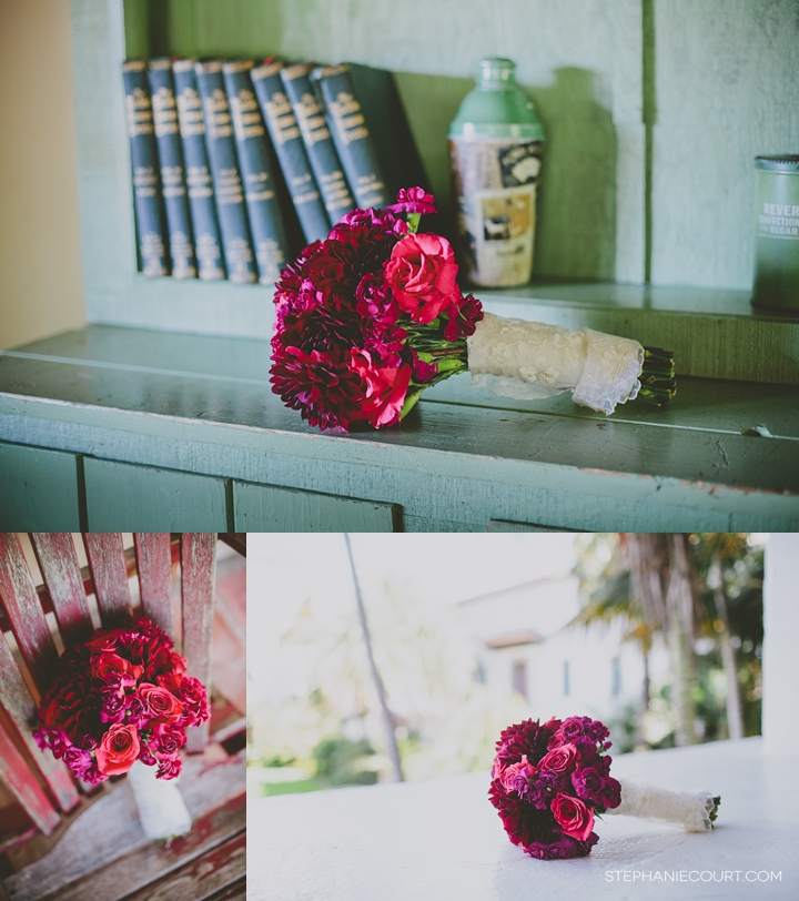 """fuschia monotone wedding bouquet"""