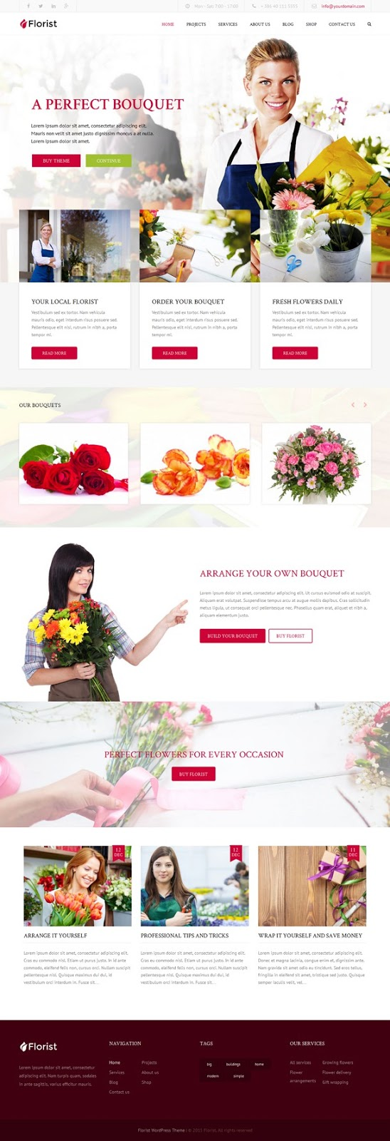 Florist WP Florist & Flower Shop Website Theme