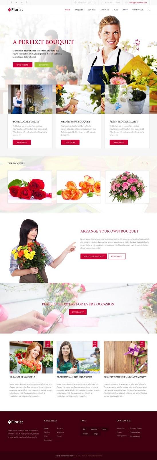 Florist WP Florist & Flower Shop Website Theme