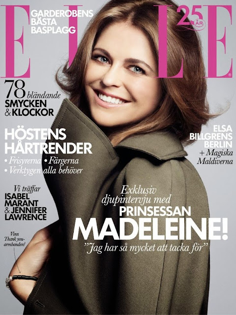 Princess Madeleine for Elle Sweden November 2013