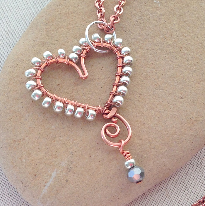 Lisa yangs jewelry blog how to make wire heart jewelry diy heart pendant ideas aloadofball Choice Image