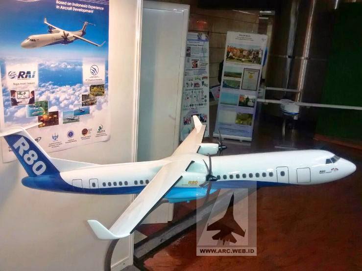 Pesawat R-80 Dalam RITECH Expo