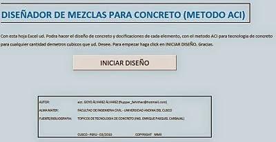 Diseño y preparación de concreto