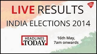 Election Results 2014 LIVE on Headlines Today Youtube HD