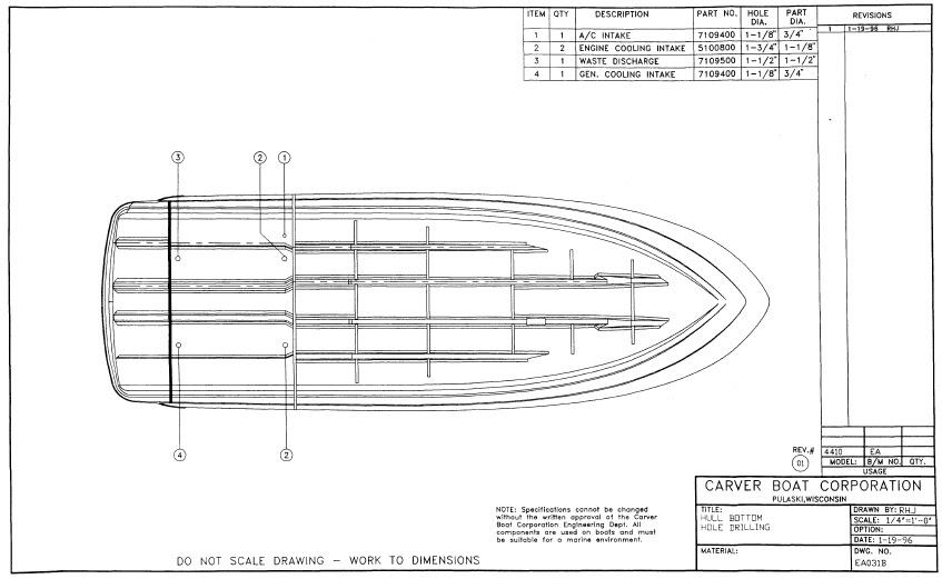 1997 Carver Trojan 440 Express Cruiser