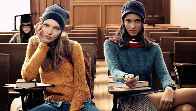 Chunky knitwear by Tommy Hilfiger preppy fashion