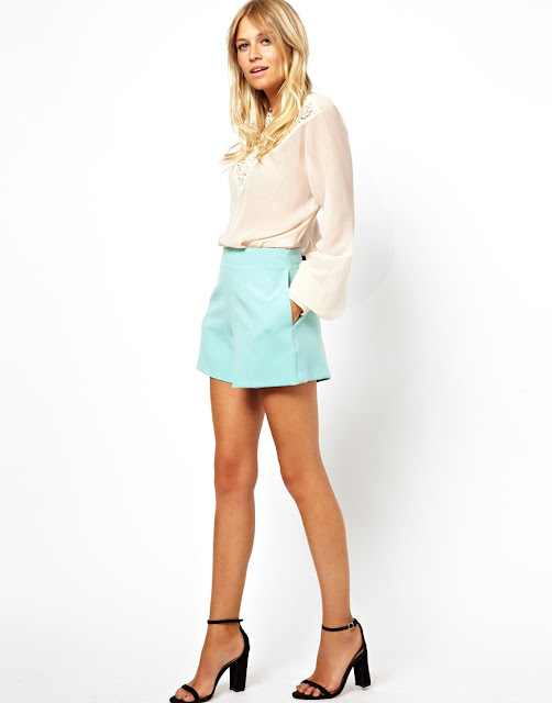 mint high waist shorts