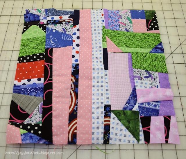 http://joysjotsshots.blogspot.com/2015/07/quilt-shot-block-34-crumb-block.html