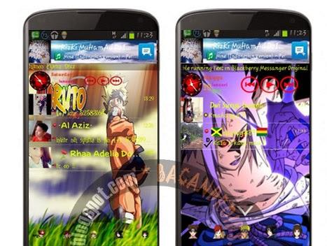 Download App BBM Mod Tema foto/gambar Naruto Terbaru kartun