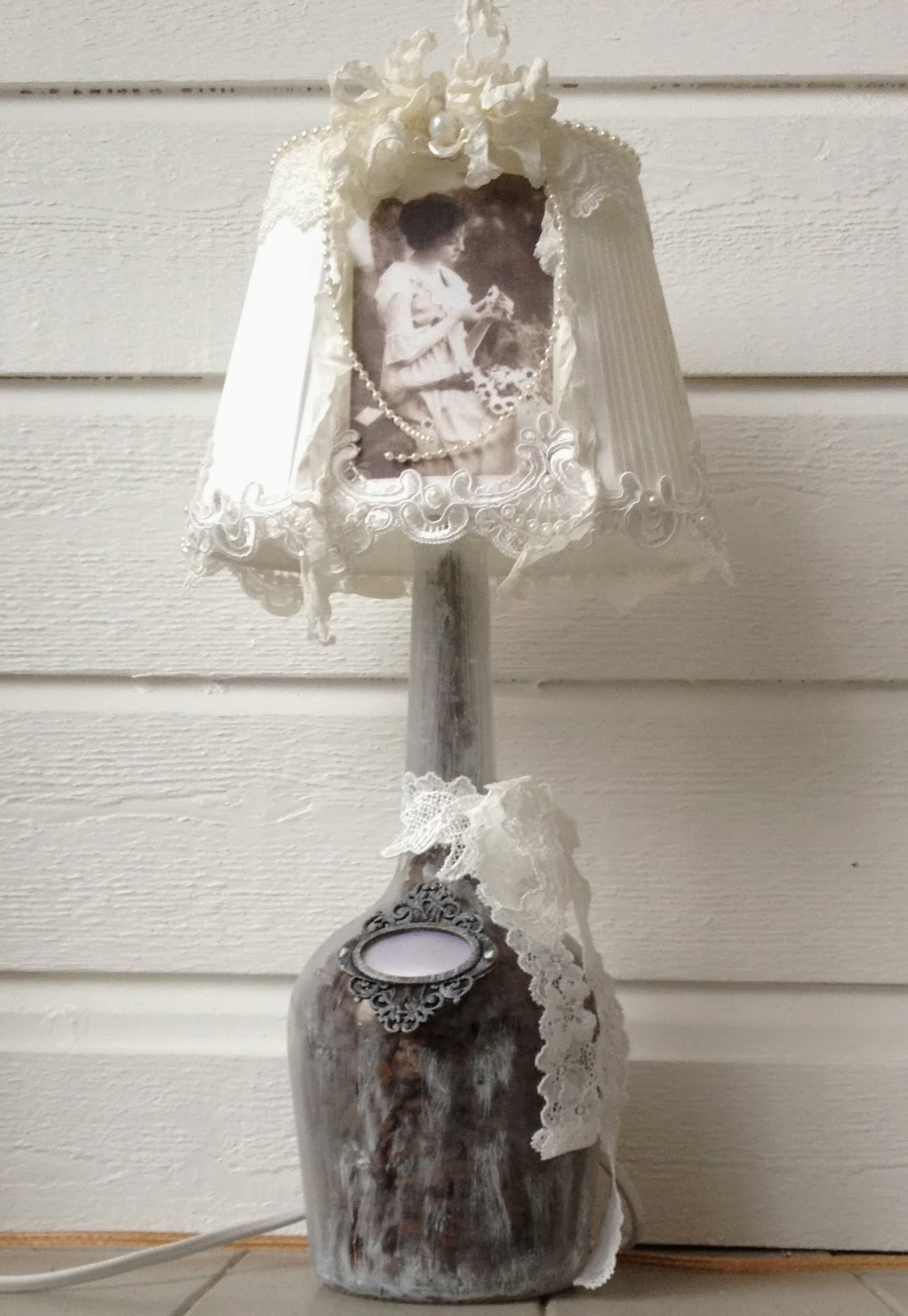 Annes papercreations hand made shabby chic lamp 2 aloadofball Gallery