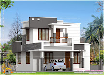 Small Flat Roof Double Stories House - Kerala Home Design