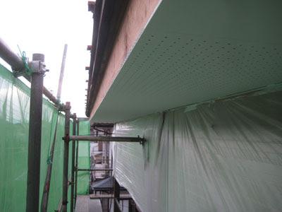 東京都 府中市 屋根工事 雨漏り修理 軒天ボード設置