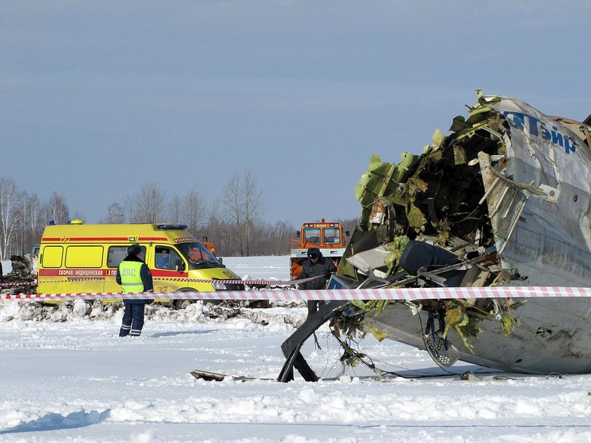 Plane crash over the tyumen