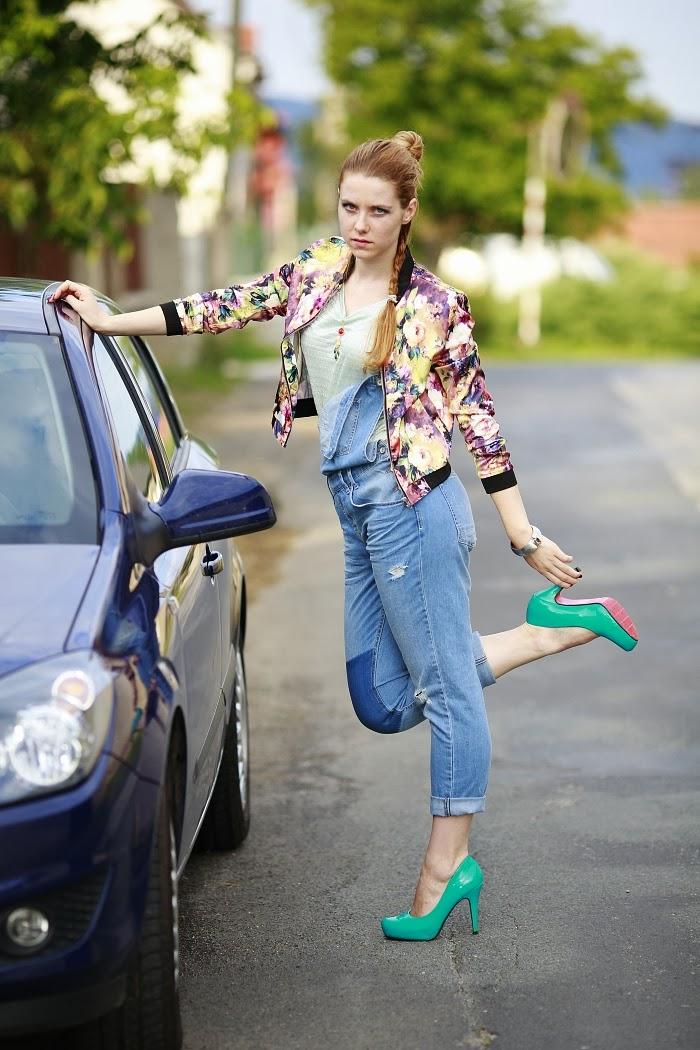 sheinside, bomber jacket, high heels, berhska, lucie srbová