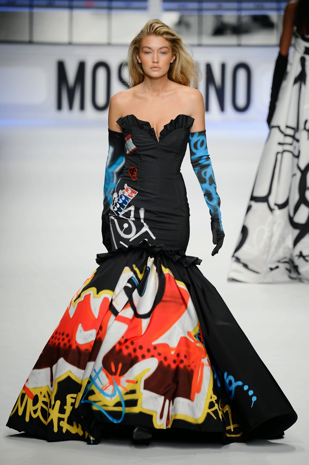 Fashion model,TV Personality: Gigi Hadid - Moschino F/W fashion show