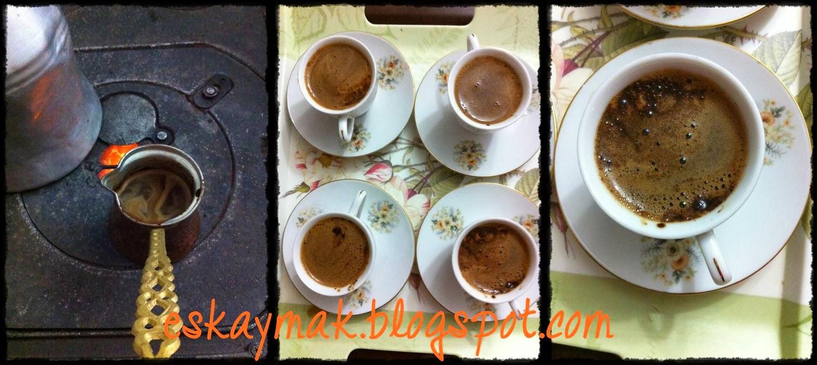 Türk kahvesi, soba, Sobada kahve, bakır cezve, Kendimce,