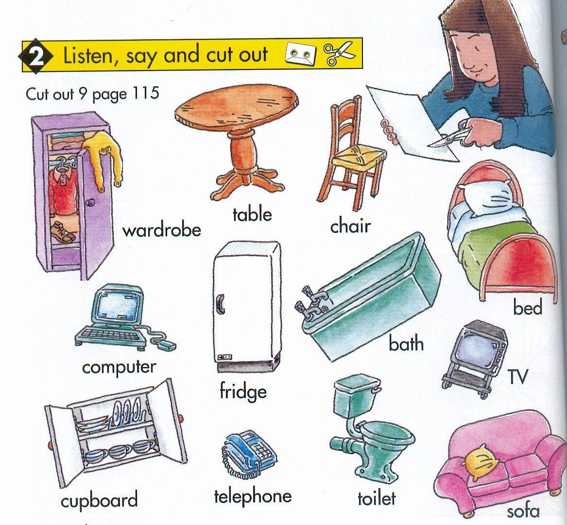 TE CUENTO UN CUENTO: Muebles de casa en inglés